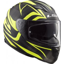 CASCO HELMET INTEGRALE FF320 STREAM EVO JINK BLACK MATT YELLOW LS2