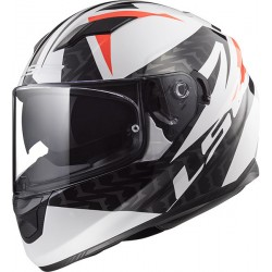 CASCO HELMET INTEGRALE FF320 STREAM EVO COMMANDER WHITE BLACK RED LS2