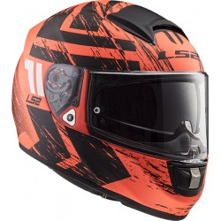 CASCO INTEGRALE FF397 VECTOR FT2 HUNTER MATT ORANGE BLACK LS2