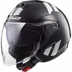 CASCO HELMET JET OF573 TWISTER COMBO BLACK RAINBOW LS2