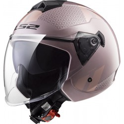 CASCO HELMET JET OF573 TWISTER COMBO PINK LS2