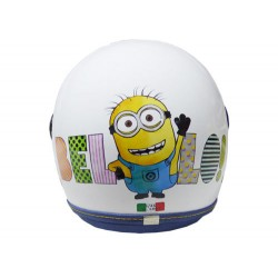 CASCO HELMET DEMI JET KID MINIONS BELLO WHITE DURALEU