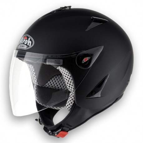 CASCO DEMI-JET JT COLOR BLACK MATT AIROH