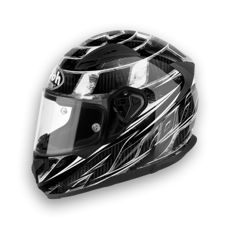 CASCO INTEGRALE T600 KNIFE BLACK GLOSS AIROH