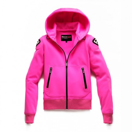 GIACCA MOTO LADY EASY WOMAN 1.1 PINK FLUO BLEUR