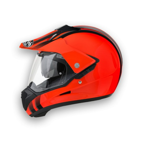 CASCO CROSS S5 LINE ORANGE GLOSS AIROH