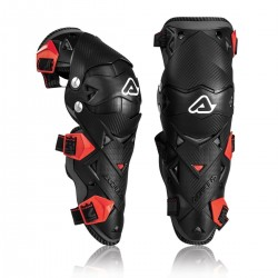ACERBIS GINOCCHIERA KNEE GUARDS IMPACT EVO 3.0 BLACK RED