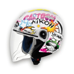 CASCO JET JUNIOR MR JET CARTOON GLOSS AIROH