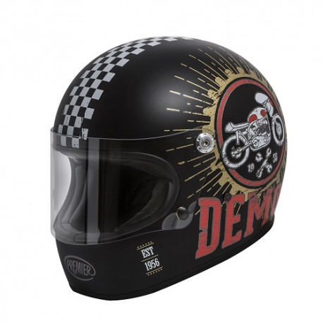 CASCO HELMET INTEGRALE STILE ANNI 70 SPEED DEMON 9 BM PREMIER