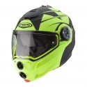CASCO HELMET MODULARE DROID PATRIOT MATT BLACK YELLOW FLUO CABERG