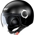CASCO HELMET MINI-JET G3.1E COUPLE' MATT BLACK WHITE GREX