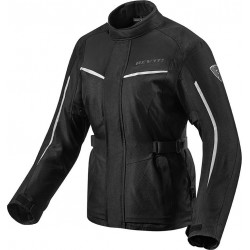 GIACCA MOTO DONNA VOLTIAC 2 LADIES NERO ARGENTO REV'IT