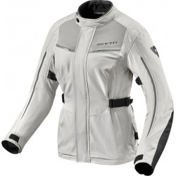 GIACCA MOTO DONNA VOLTIAC 2 LADIES ARGENTO NERO REV'IT