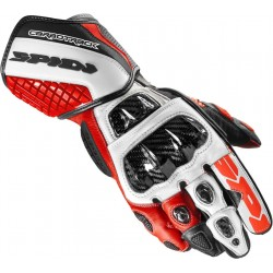 GUANTO IN PELLE MOTO CARBO TRACK EVO RED SPIDI A203