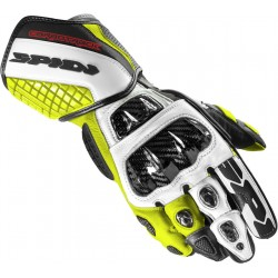 GUANTO IN PELLE MOTO CARBO TRACK EVO BLACK YELLOW FLUO SPIDI A203
