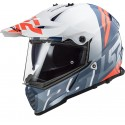 CASCO CROSS MX436 PIONEER EVO EVOLVE WHITE COBALT LS2