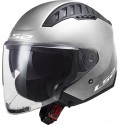 CASCO JET OF600 COPTER ARGENTO OPACO LS2