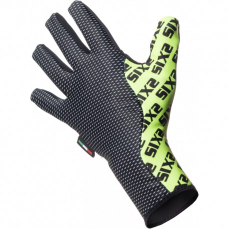 GUANTI CICLISMO INVERNALE YELLOW FLUO WINTER GLO SIXS