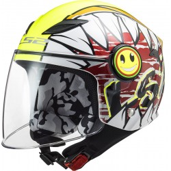 CASCO JET KIDS OF602 FUNNY CRUNCH BIANCO GIALLO LS2