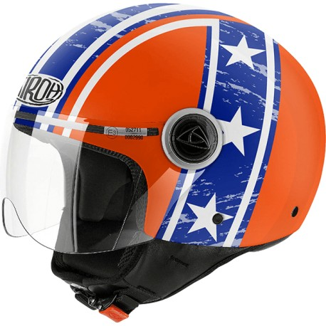 CASCO DEMI JET COMPACT ORANGE GLOSS AIROH