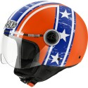 CASCO HELMET DEMI JET COMPACT HAZZARD ORANGE GLOSS AIROH