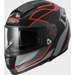 CASCO INTEGRALE FF397 VECTOR FT2 VANTAGE MATT BLACK RED LS2