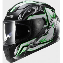 CASCO INTEGRALE FF320 STREAM STEEL WHITE BLACK GREEN LS2