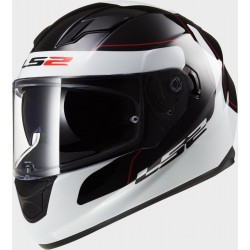 CASCO INTEGRALE FF320 STREAM LUNAR BLACK WHITE LS2