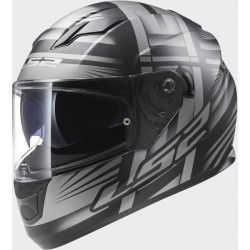 CASCO INTEGRALE FF320 STREAM BANG MATT BLACK TITANIUM LS2