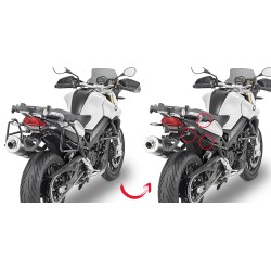 PORTAVALIGIE LATERALE SPECIFICO BMW F800 GT GIVI PLR 5118