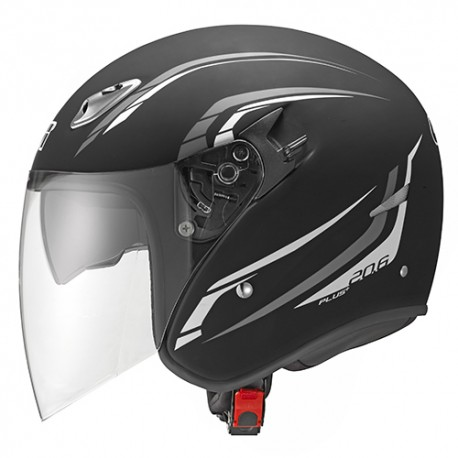 CASCO JET IN FIBRA COMPOSITA H20.6 FIBER-J2 PLUS NERO OPACO GIVI
