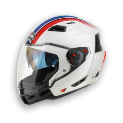 CASCO HELMET EXECUTIVE STRIPES WHITE GLOSS AIROH