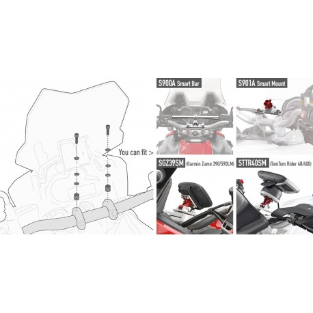 KIT VITERIA SPECIFICO PER YAMAHA MT-09 TARCER GIVI 04SKIT