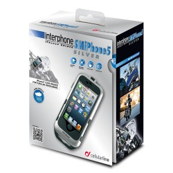 SUPPORTO PORTA IPHONE 5 SILVER MANUBRI TUBOLARI CELLULAR LINE