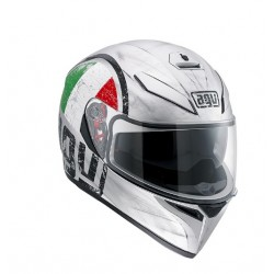 CASCO INTEGRALE K-3 SV E2205 MULTI SCUDETTO MATT SILVER AGV