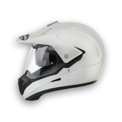 CASCO MOTARD/OFF ROAD S5 COLOR WHITE PEARL AIROH