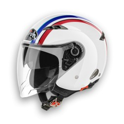 CASCO JET CITY ONE STYLE WHITE GLOSS AIROH