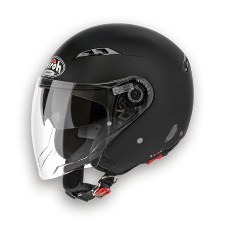 CASCO HELMET JET CITY ONE COLOR BLACK MATT AIROH