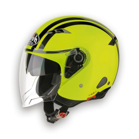 CASCO JET CITY ONE FLASH YELLOW GLOSS AIROH
