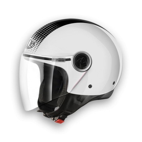 CASCO JET MALIBU TOUCH WHITE GLOSS AIROH