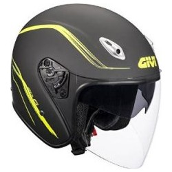 CASCO JET 20.6 FIBER MATT BLACK/YELLOW GIVI