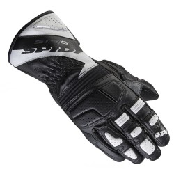 GUANTO IN PELLE NERO/ BIANCO MOTO SPORT TOURING RACING STS-S A163 SPIDI