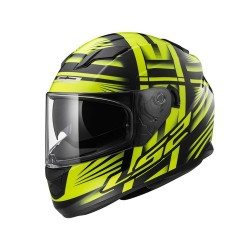 CASCO INTEGRALE FF320 STREAM BANG BLACK HI-VIS YELLOW LS2