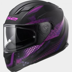 CASCO INTEGRALE FF320 STREAM BANG LUX MATT BLACK PINK LS2