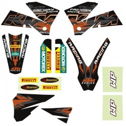 KTM STICKERS GRAFICHE RACING NERE ORIGINALI EXC 05/07 SX 05/06