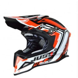CASCO HELMET CROSS J12 FLAME RED JUST1