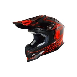 CASCO HELMET CROSS J12 CARBON FLUO RED JUST1