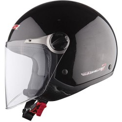 CASCO HELEMT JET OF 560 CITY NERO LUCIDO LS2