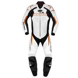 TUTA IN PELLE SUPERSPORT WIND PRO NERO ARANCIO SPIDI