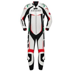 TUTA IN PELLE TRACK WIND PRO SUIT BIANCA SPIDI
